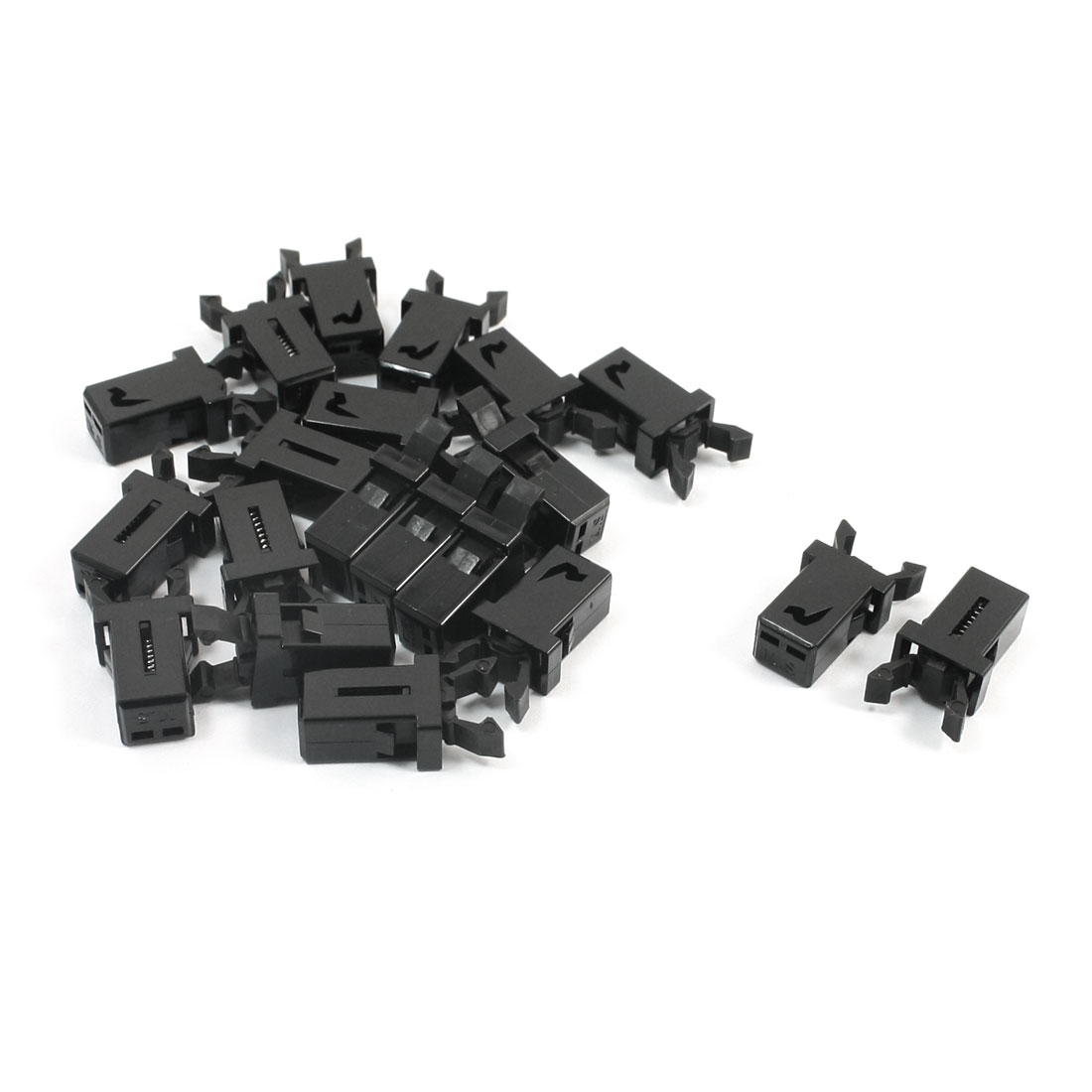 20 Pcs Panel Mount Spring Load Black Plastic Door Lock Toch Button Switch for RC Aircraft Airplane Model