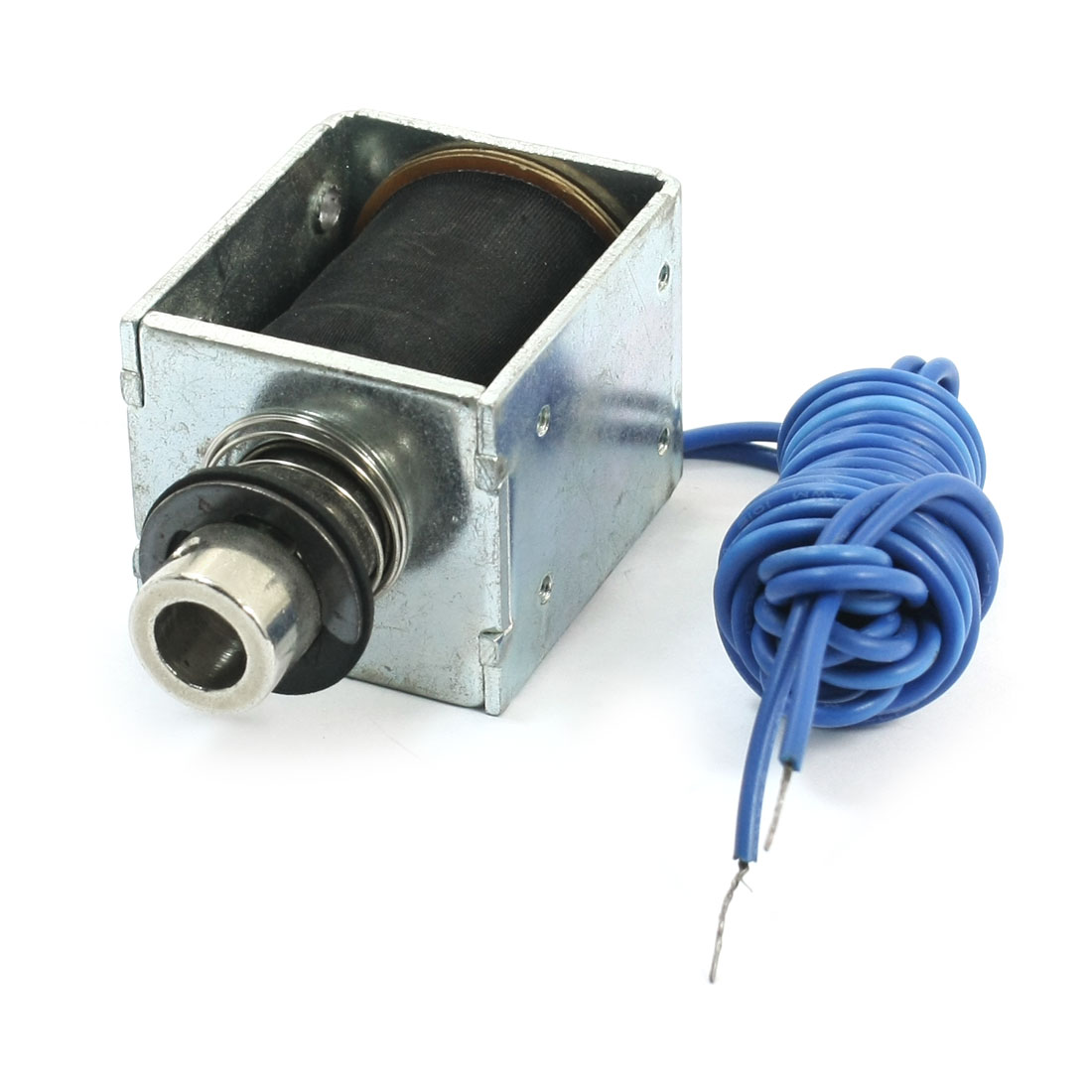 12mm Stroke 800g Force 2-Wire Connecting Open Frame Pull Type Spring Loaded Linear Motion Electric Lifting Solenoid Electromagnet DC 36V 36W