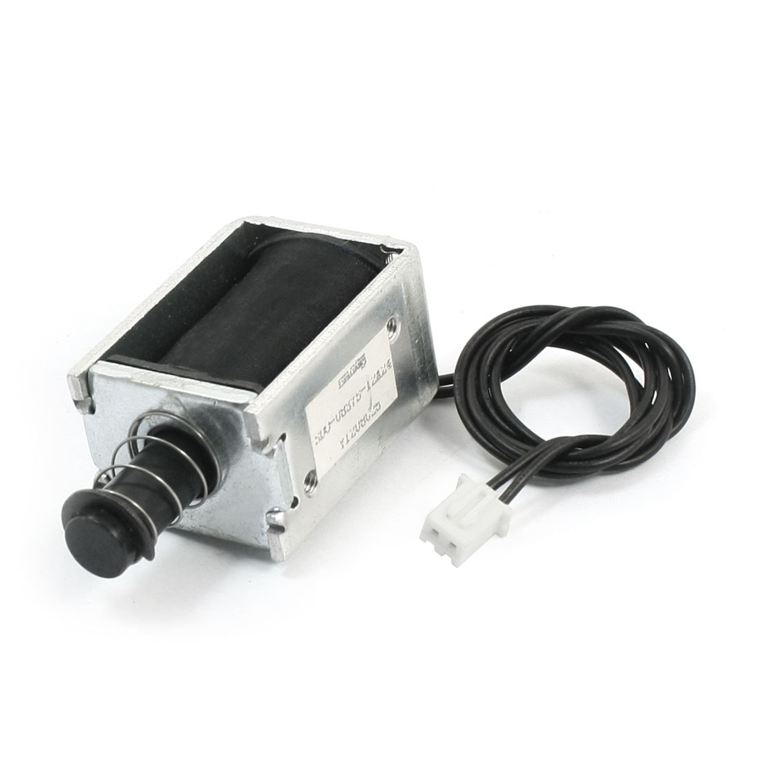 10mm Stroke 500g Force Balance Plug Connector Open Frame Pull Type Spring Loaded Linear Motion Solenoid Electromagnet DC 12V 0.5A 6W