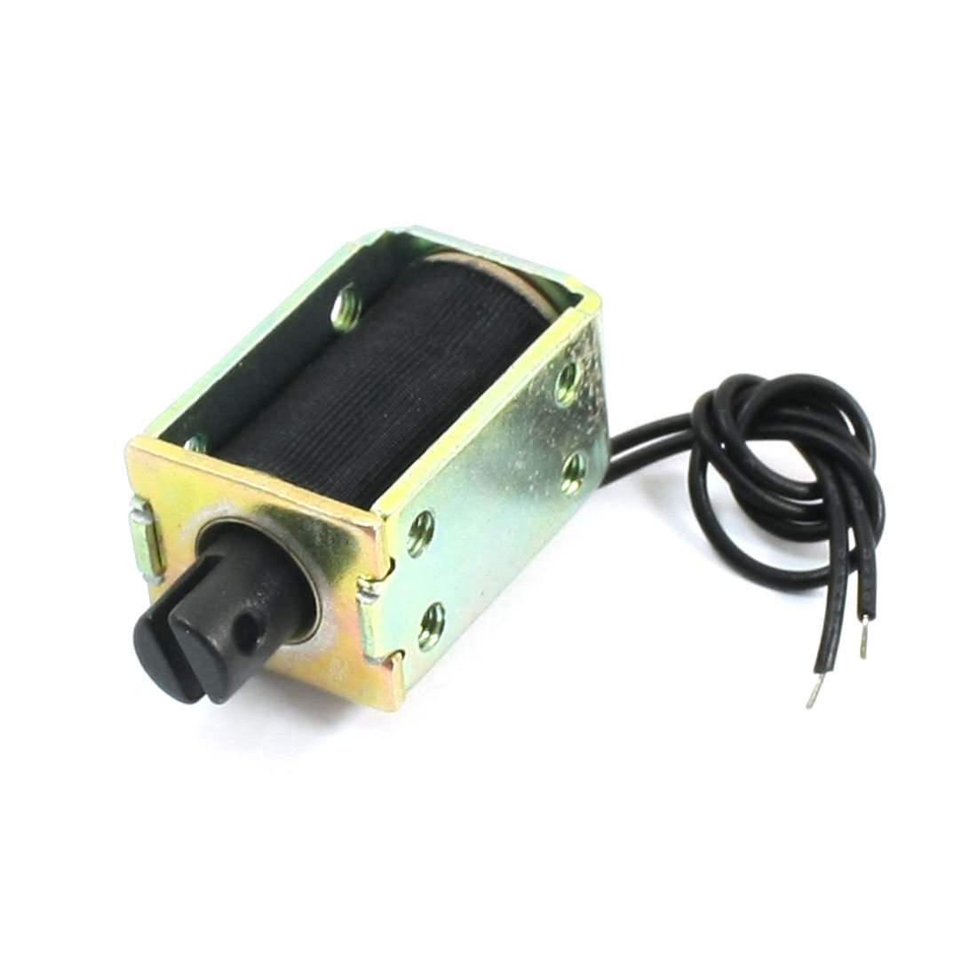 4mm Stroke 120g Force 2-Wire Connect Open Frame Push Type Electric Lifting Magnet Solenoid Electromagnet DC24V 0.2A