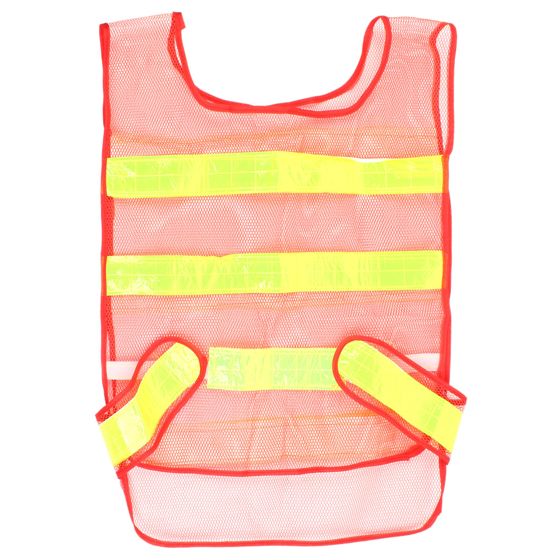 Red Yellow Reflective Strips Safety Warning Vest Jacket Clothing
