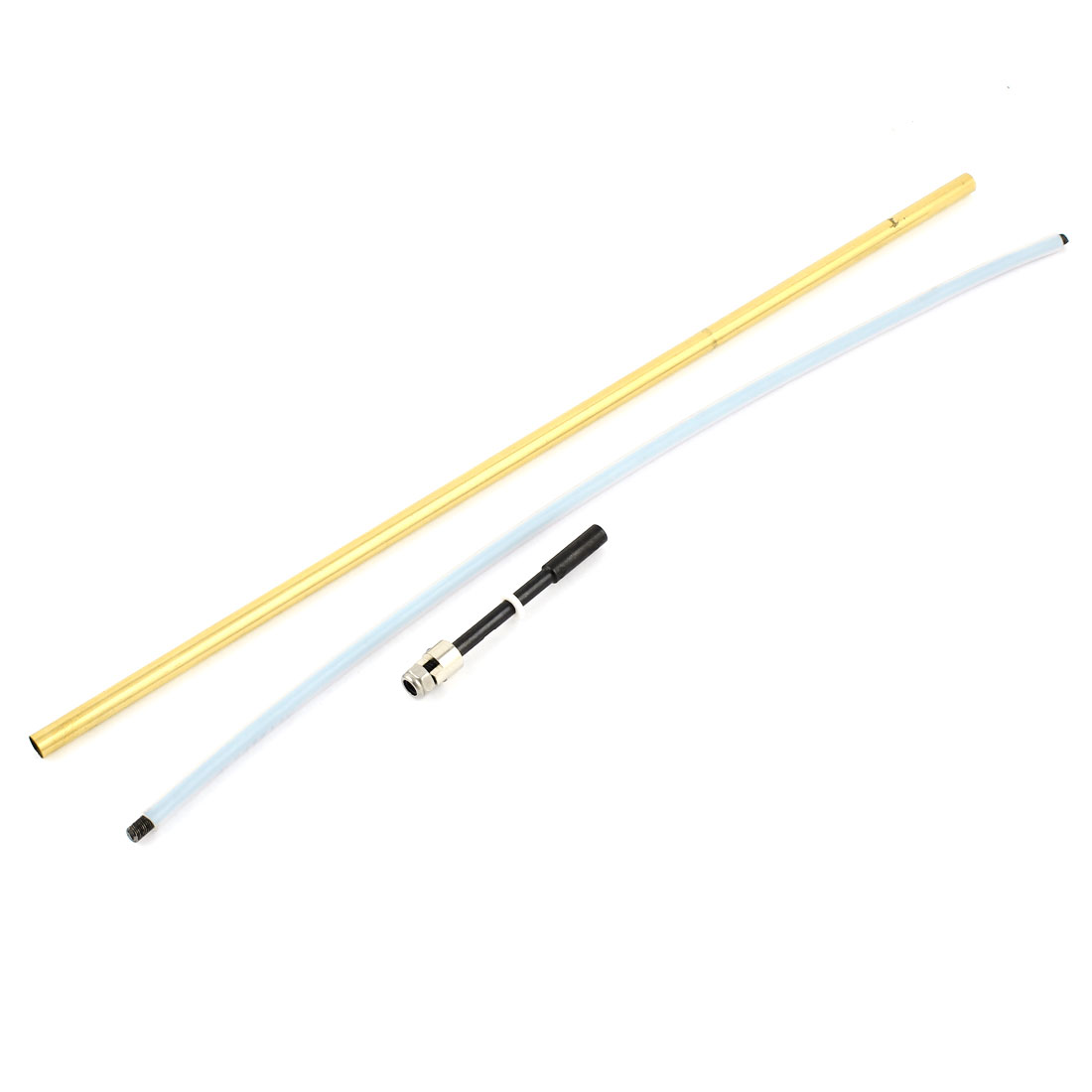 4mm Dia 300mm Length RC Model Ship Flexible Cable Drive Shaft Dog Prop Nut Brass Tube Replacement