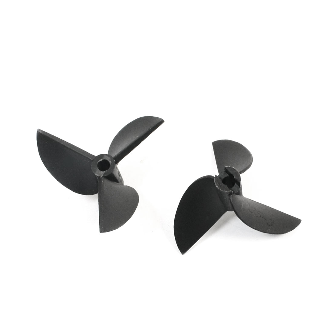 "2Pcs 35mm Dia 1.9 Black Plastic 3 Vanes CW Rotating Propeller Prop 3519 for 1/8"" Shaft RC Model Ship Boat"