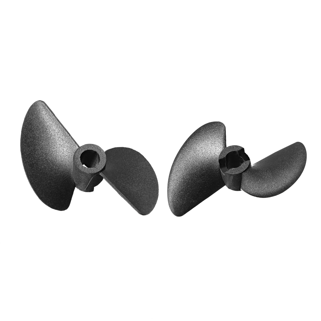 3pcs 40mm Dia P/D 1.4 Black Plastic Dual Vane Rotating Propeller Prop 4014 for 4.76mm Shaft RC Boat Ship Model