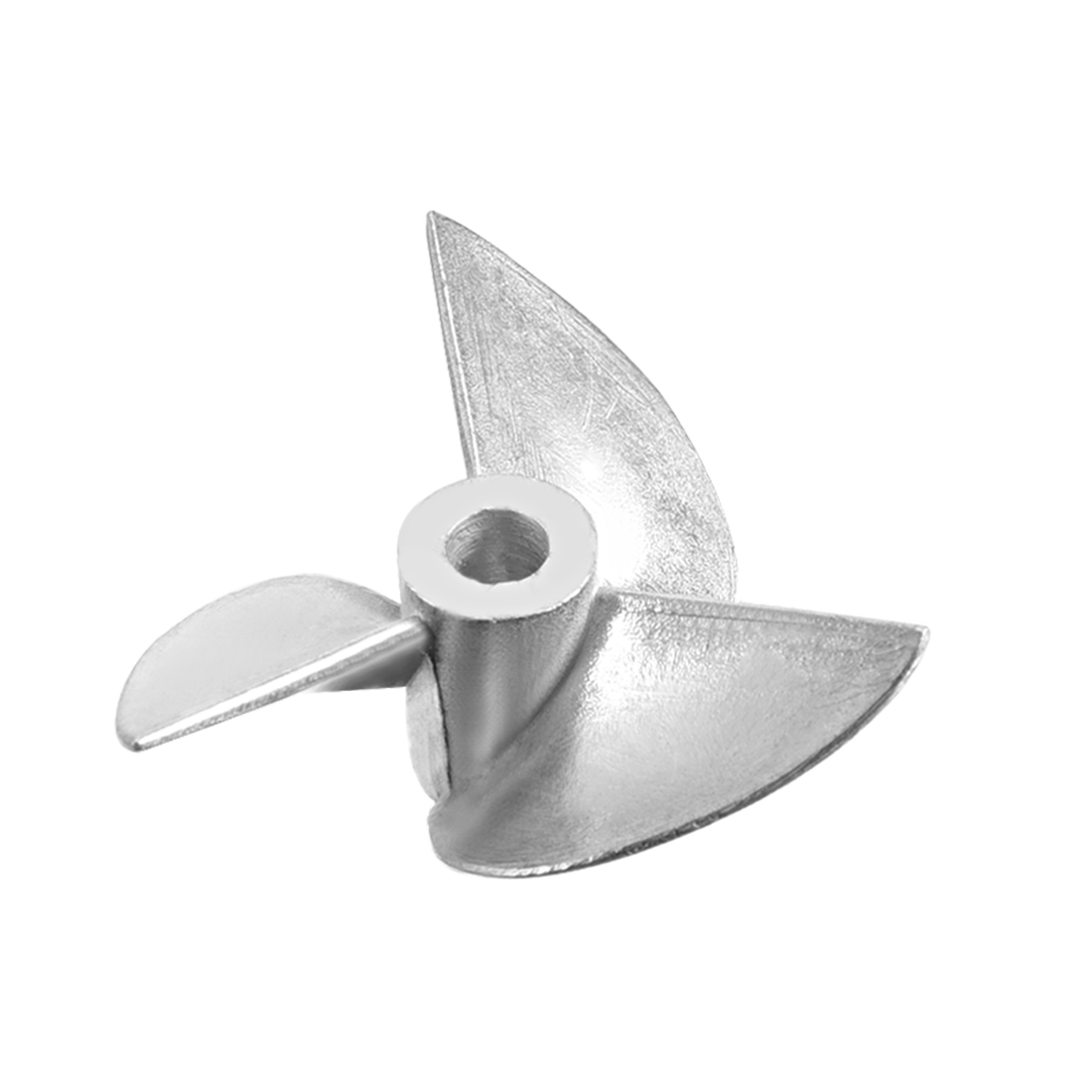 36mm Dia P/D 1.4 Aluminium Alloy 3-Vane CCW Reverse Rotating Propeller Prop for 4mm Dia Shaft RC Boat Ship Model
