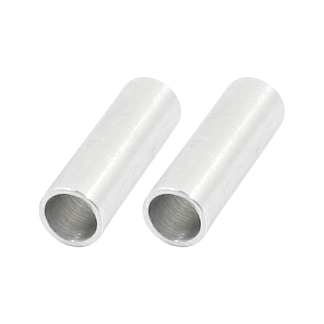 2Pcs Cylinder Silver Tone Aluminum Prop Shaft Converter Adapter 6.35mm x 5mm x 20mm for RC Model Ship Electric Boat