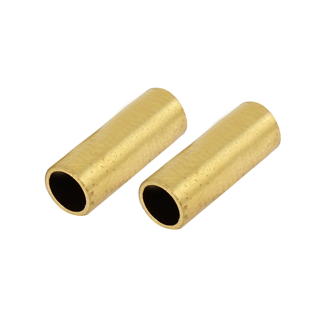2Pcs 4mm x 4.76mm x 9mm Split Type Cylinder Shape Gold Tone Metal Sleeve Connect Fitting Adapter for RC Model Boat Ship