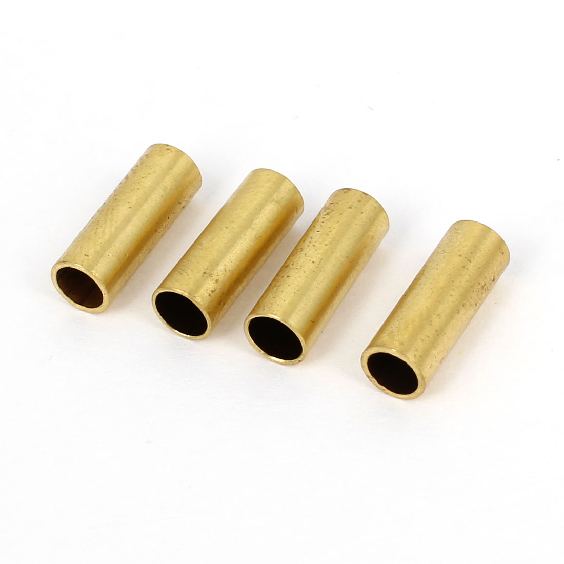 4 Pcs 4mm x 4.76mm x 9mm Split Type Cylinder Shaped Gold Tone Metal Prop Adapter Propeller Connector Fitting for RC Model Ship Boat