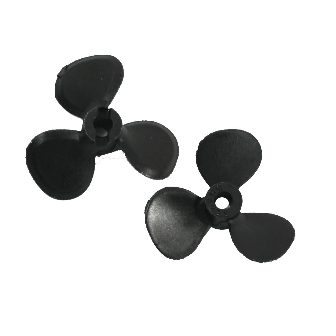 "Pair 25mm Dia P/D 1.2 Black Plastic CW CCW Positive/Reverse Rotating Prop Propeller for 1/8"" Shaft RC Model Boat Ship"