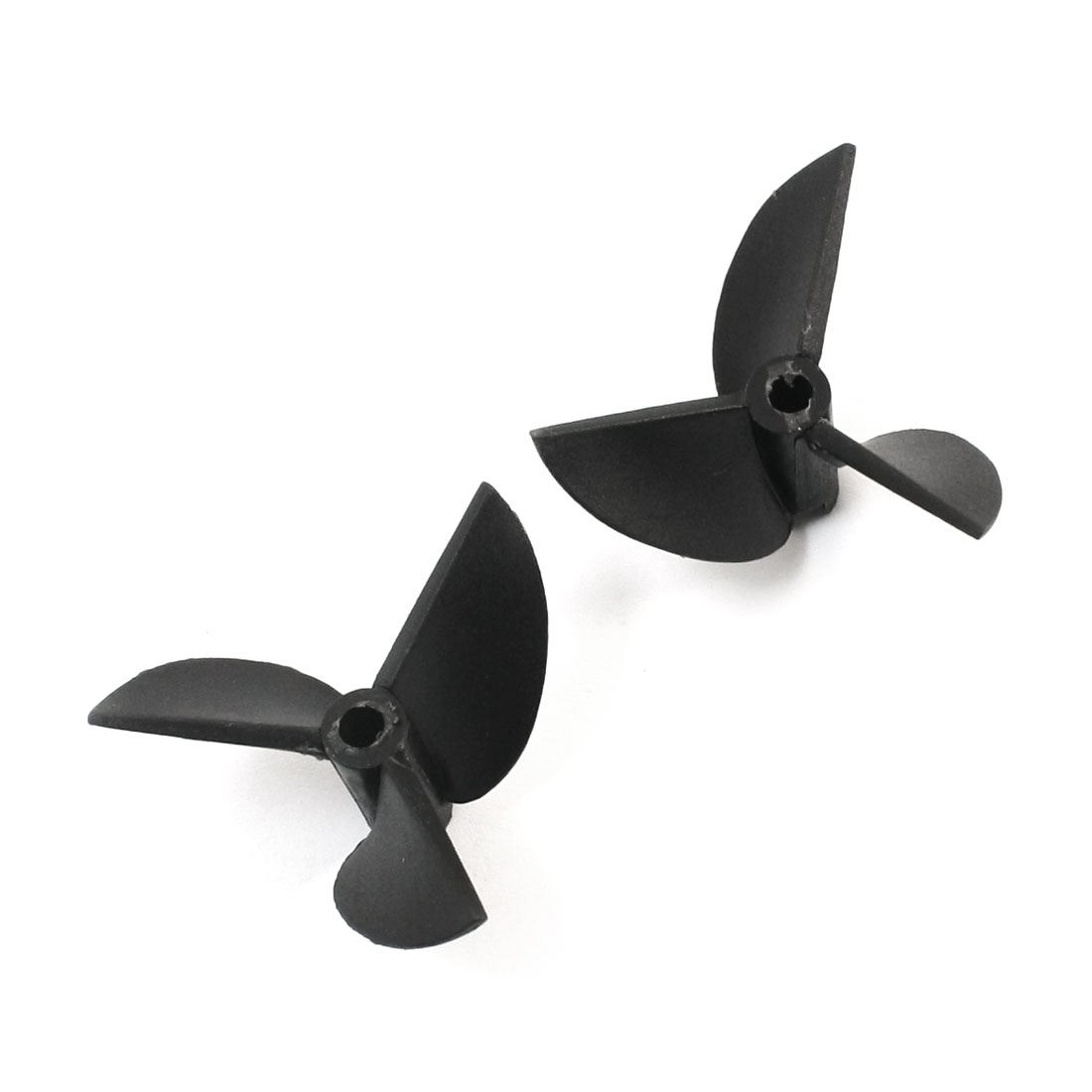 "Pair 3519 35mm Dia P/D1.9 Black Plastic 3 Vanes CW/CCW Propeller Prop for 1/8"" Shaft RC Ship Boat Model"