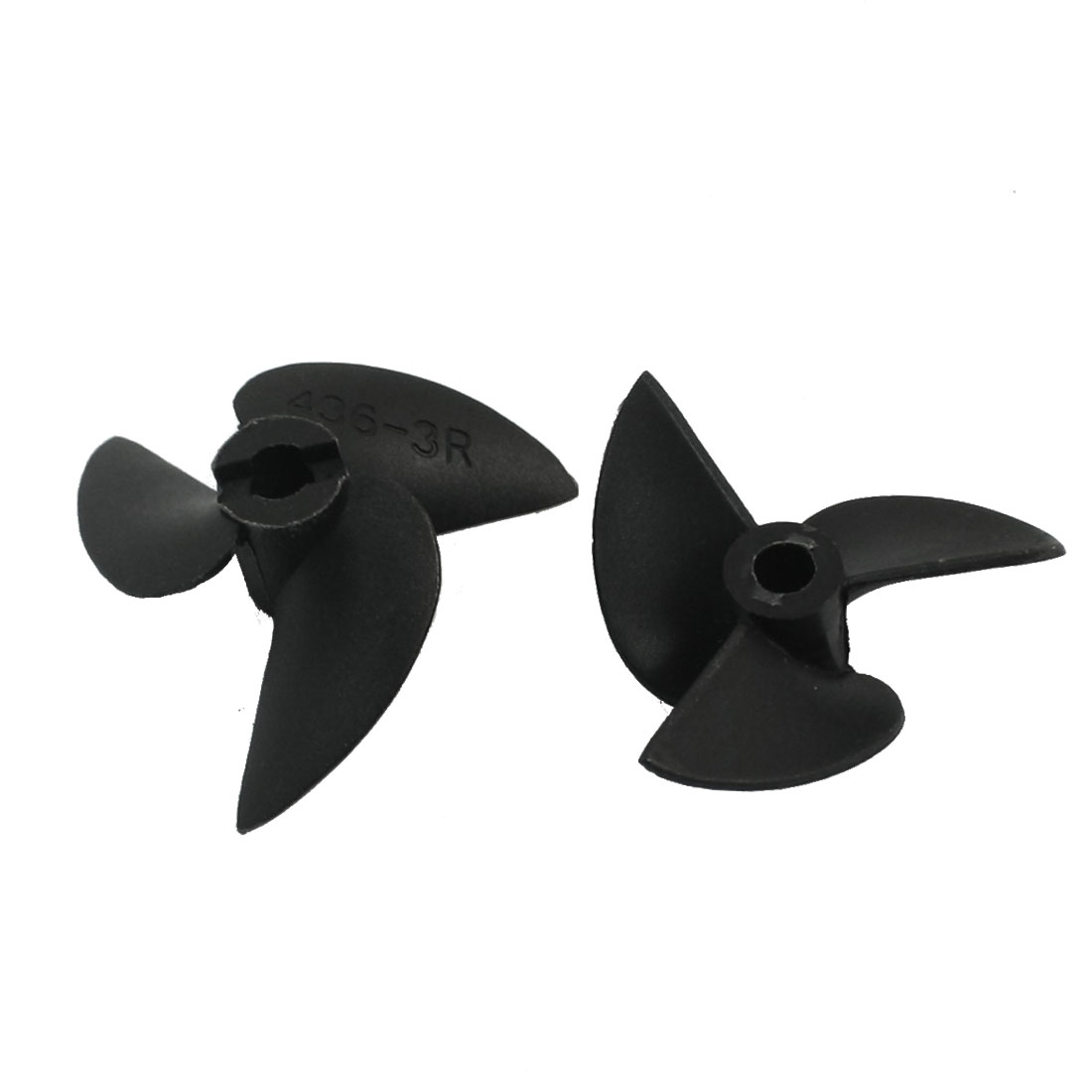 Pair Black Plastic 3-Vane CW/CCW Positive/Reverse Rotating Propeller Prop 36mm Dia P/D 1.4 3614 for 4mm Shaft RC Model Ship Boat
