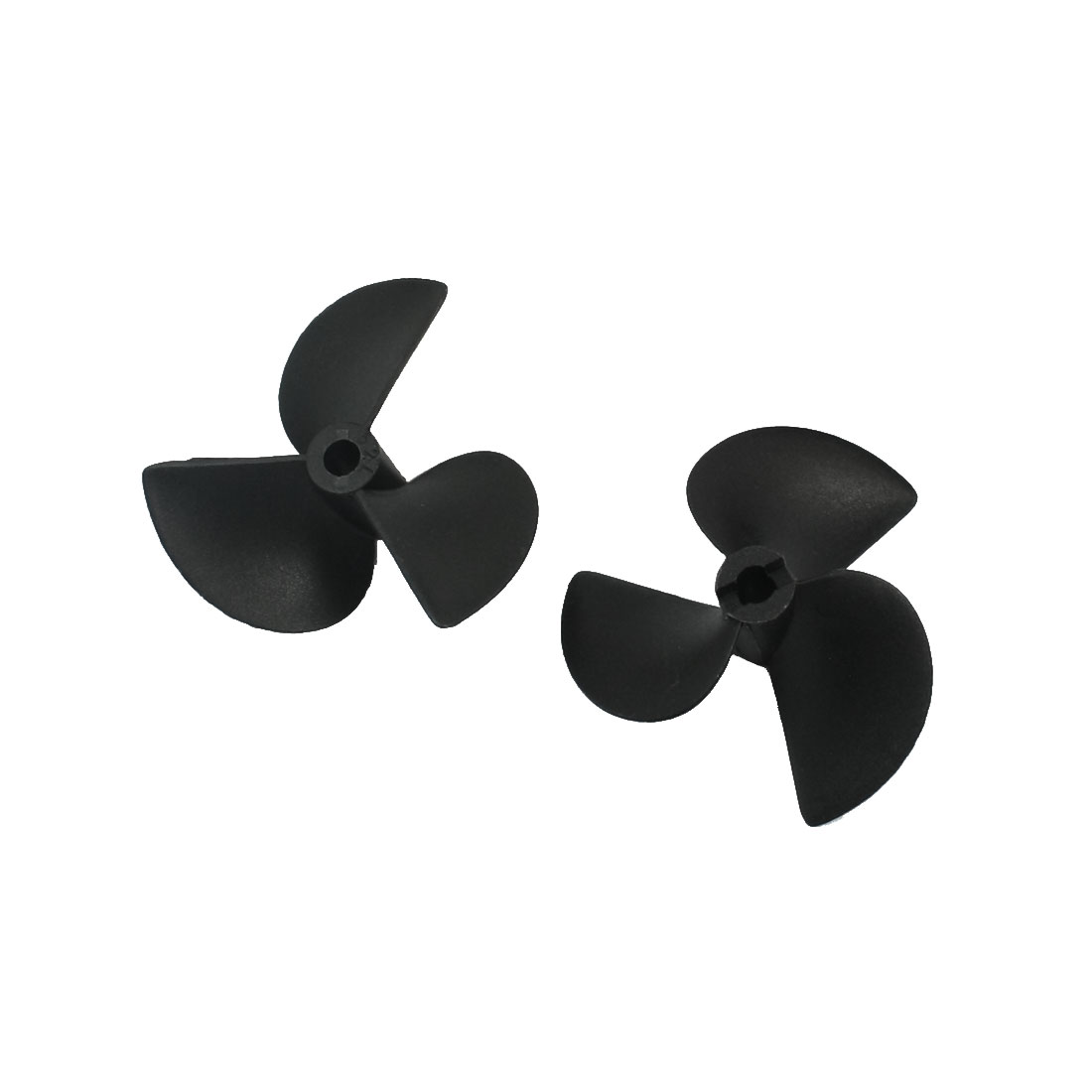 "Pair 5240 52mm Dia 40mm Pitch Black Plastic 3 Vanes CW/CCW Positive Reverse Propeller Prop for 3/16"" Shaft RC Ship Boat Model"