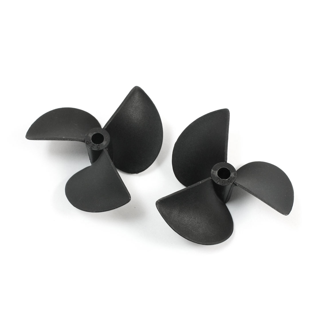 "Pair 5540 55mm Dia 40mm Pitch 3-Vane Black Plastic CW/CCW Positive Reverse Propeller Prop for 3/16"" Shaft RC Ship Boat Model"