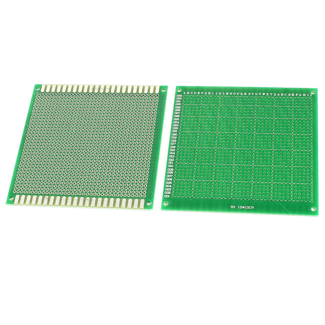 2PCS 10cm x 10cm Green FR-4 One Side Prototype DIY Universal PCB Print Circuit Board