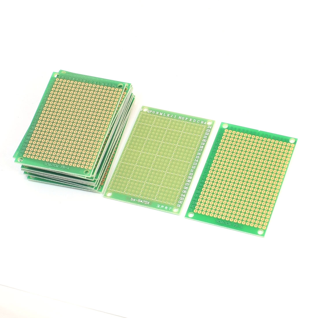 15Pcs 70mm x 50mm Single Side Prototype Perforated Glass Fiber Universal PCB Circuit Board Breadboard