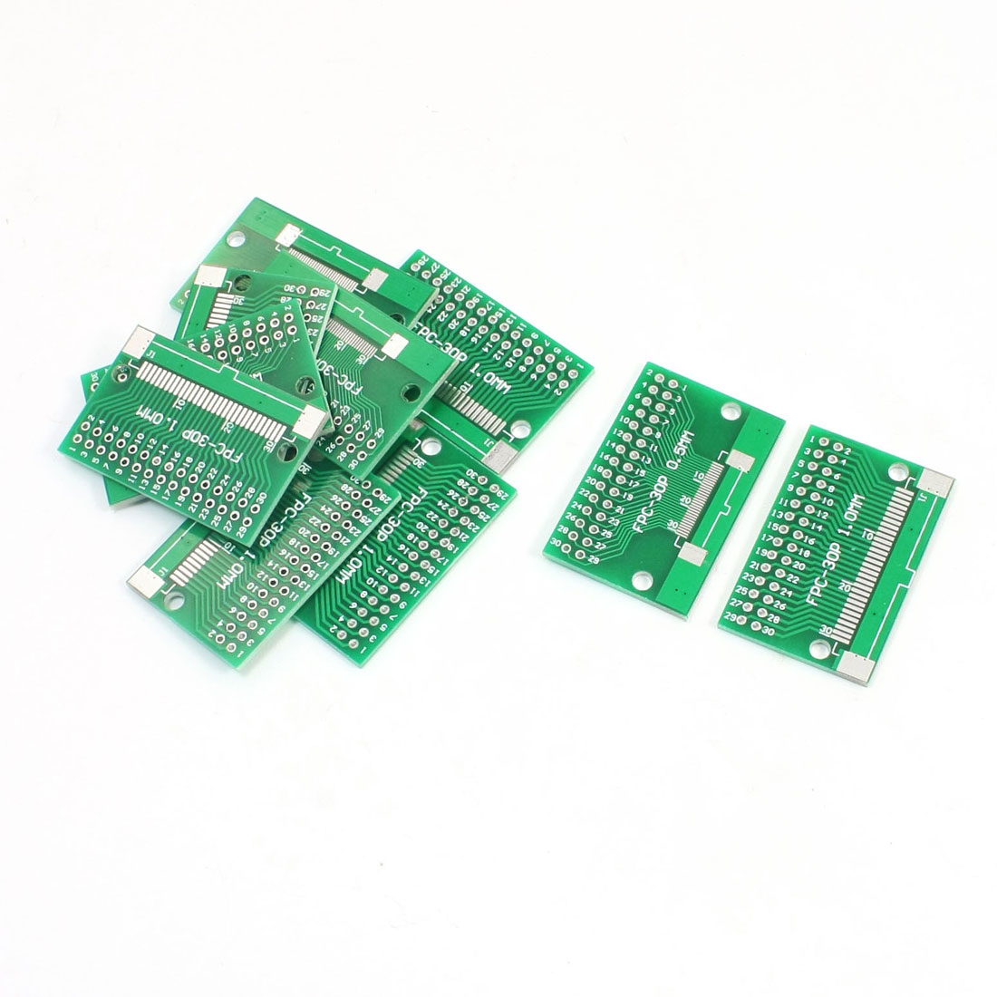 10Pcs FPC/FFC-30P to DIP30 0.5mm/1.0mm 2 Sides SMD PCB Adapter Plates