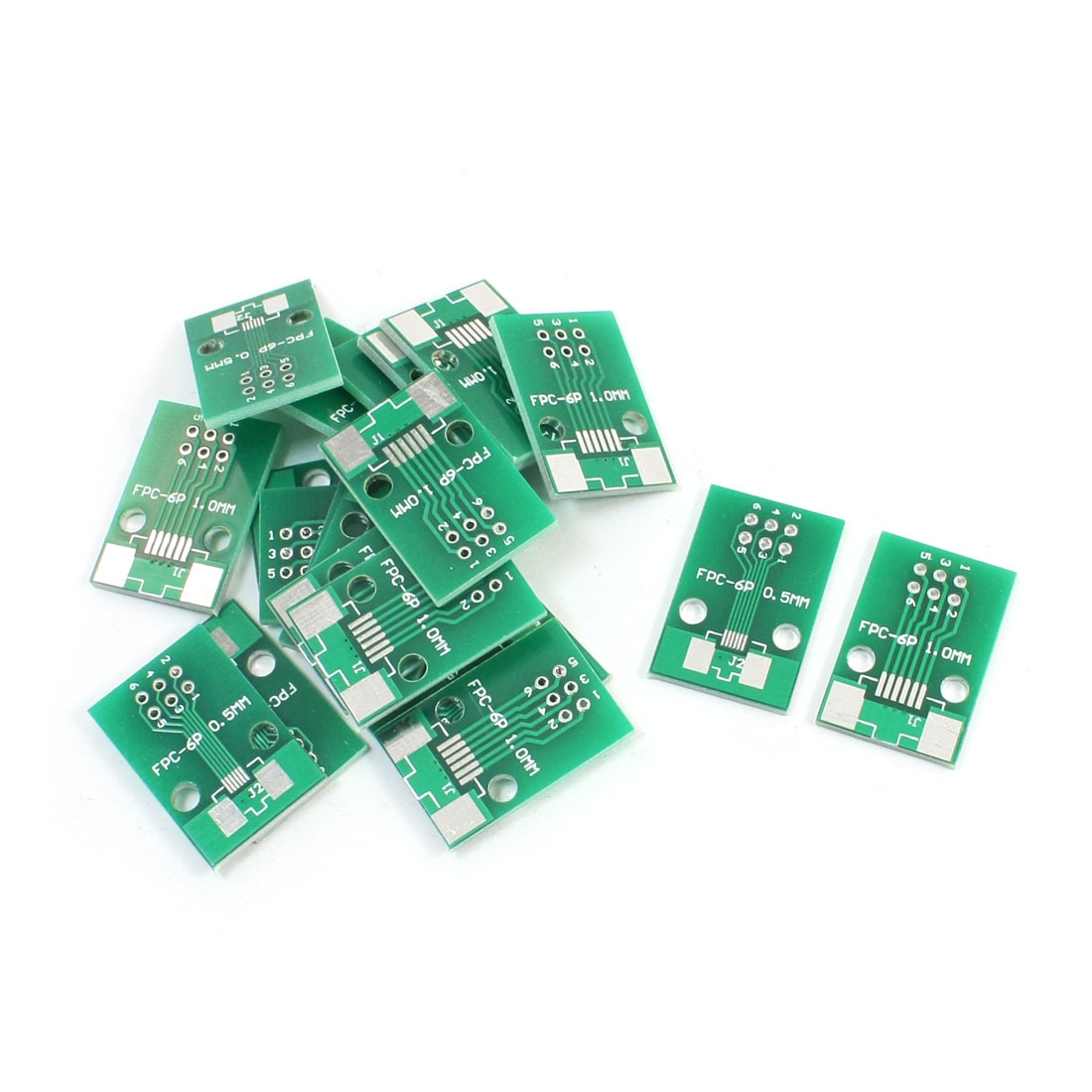 20 PCS FPC-6P FFC-6P 0.5mm 1mm to DIP6 2.54mm Pitch Double Sides Adapter PCB Board Plate Converter
