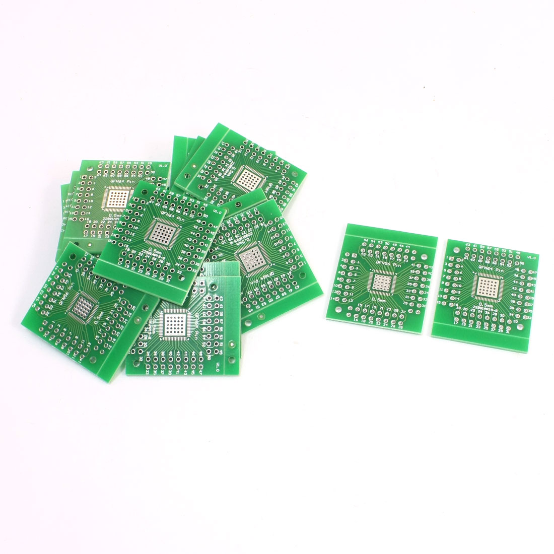 SMD QFN64 QFN56 to DIP56 DIP64 Double Sides Adapter PCB Converter Plate 20Pcs