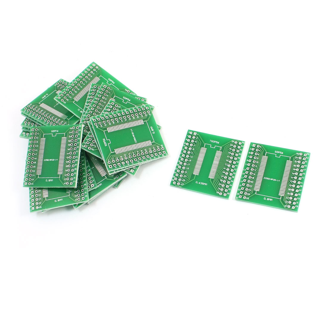 20Pcs SOP56 SSOP56 TSSOP56 0.635mm 0.8mm to DIP56 2.54mm PCB Adapter Converter