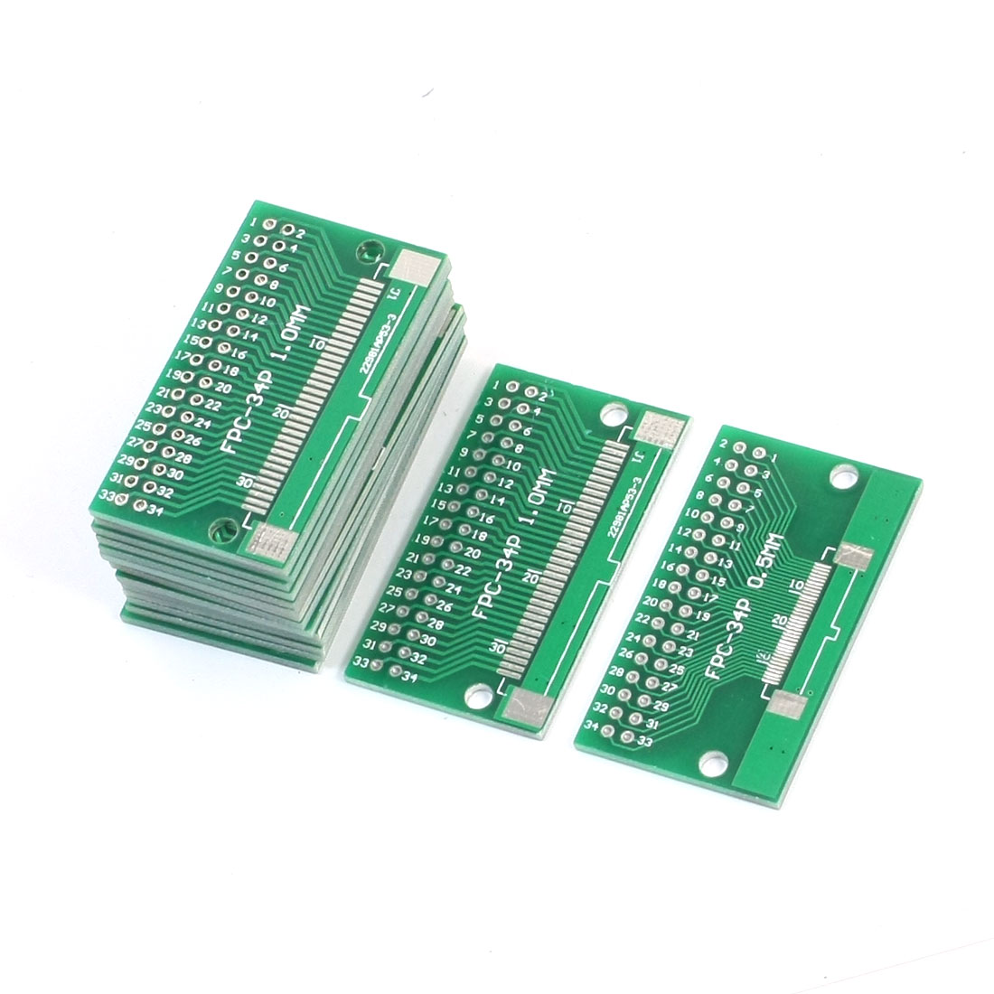 15pCS 46mm x 26mm FPC-34P SOP34 1mm 0.5mm to DIP34 2.54mm Pitch Interposer PCB Board Adapter Plate Converter
