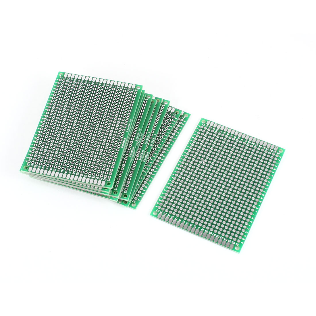 10 PCS 6cm x 8cm FR-4 Double Sided Prototyping Experiment Matrix Tinned Universal PCB Print Circuit Board for DIY