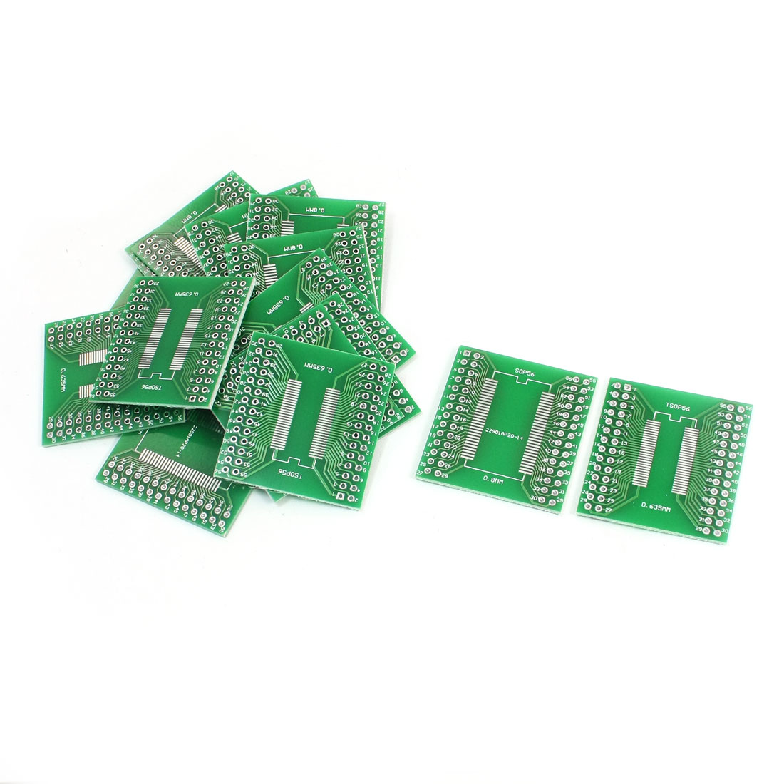 15 Pcs SMD SOP56 SSOP56 TSSOP56 0.635mm/0.8mm to DIP56 2.54mm IC PCB Plate Adapter Converter Board