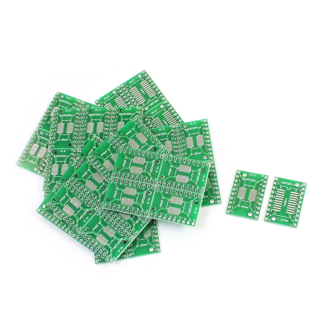 50Pcs SOP20 SSOP20 TSSOP20 0.65mm 1.27mm to DIP20 2.54mm PCB Adapter Converter