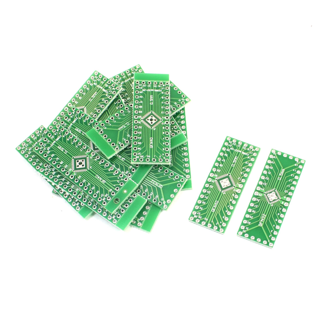 15 Pcs Dual Sides SMD QFN32 QFN40 0.5mm to DIP 32/40 2.54mm IC PCB Adapter Plate Convertor Board