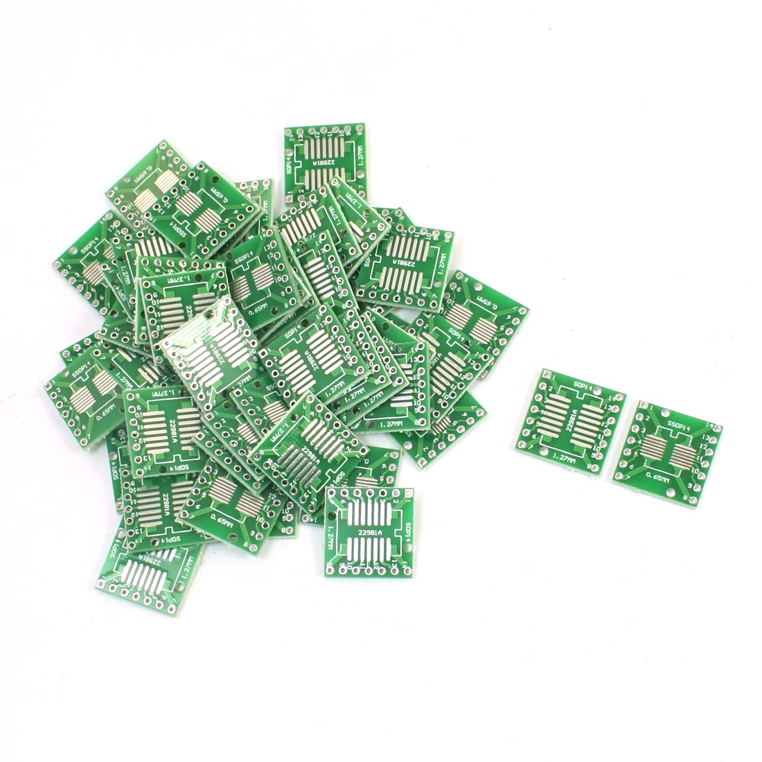 50PCS SMD SOP14 to DIP14 PCB SMD Adapter Plate Pitch 0.65/1.27mm