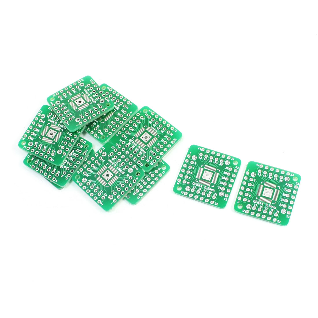 10 Pcs Dual Sides SMD QFN48 QFN44 0.5mm to DIP 48/44 2.54mm Pitch PCB Adapter Plate Convertor Board