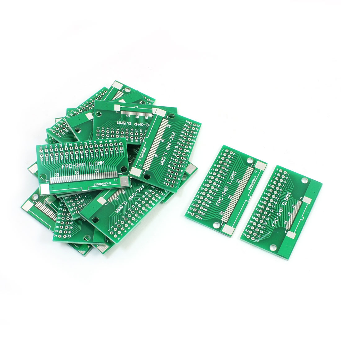 20PCS SMD FPC/FFC-34P 0.5mm 1.0mm IC PCB Adapter Converter 46 x 26mm