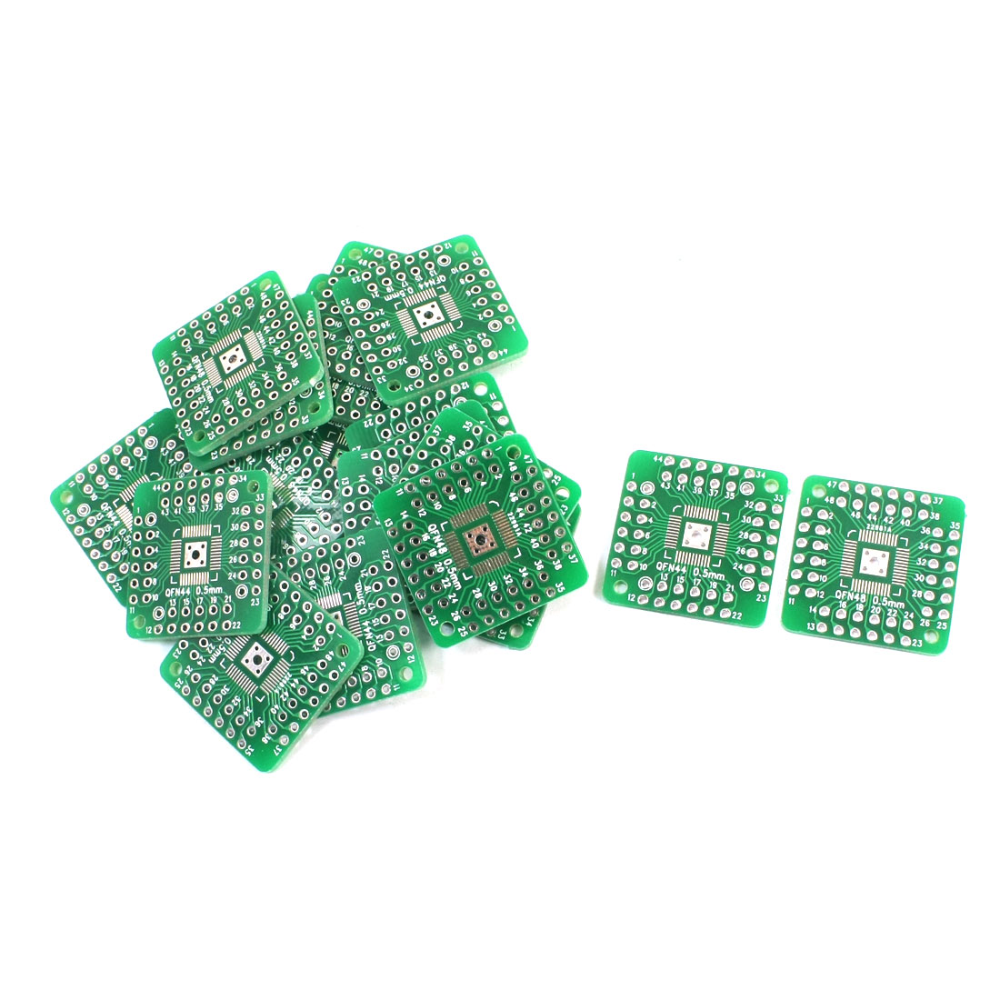 20Pcs Dual Sides SMD QFN48 QFN44 0.5mm to DIP 48/44 2.54mm IC PCB Adapter Plate Convertor Board