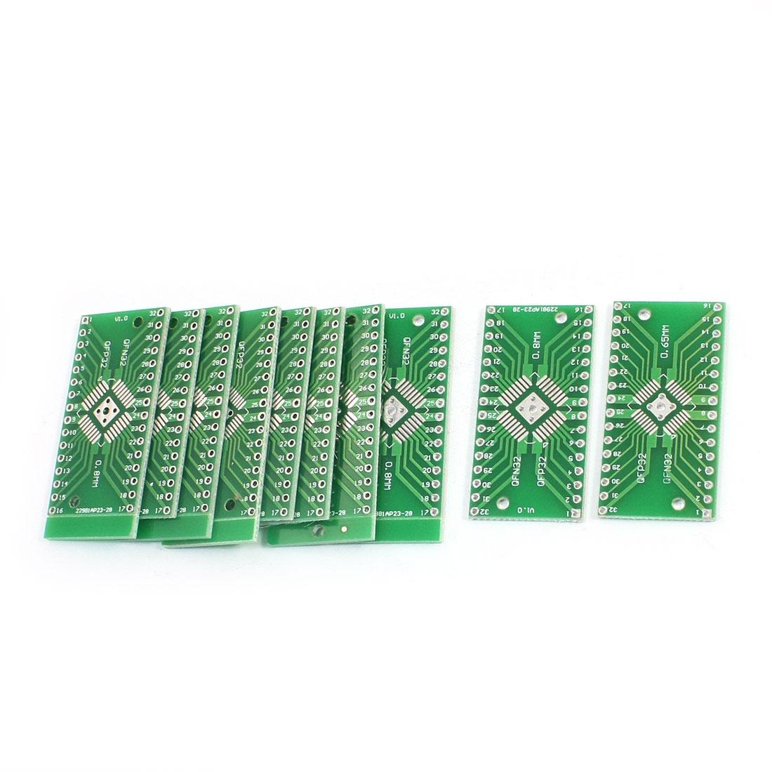 10pcs SMD QFN32 QFP32 0.8mm 0.65mm DIP32 PCB Adapter Converter Plates