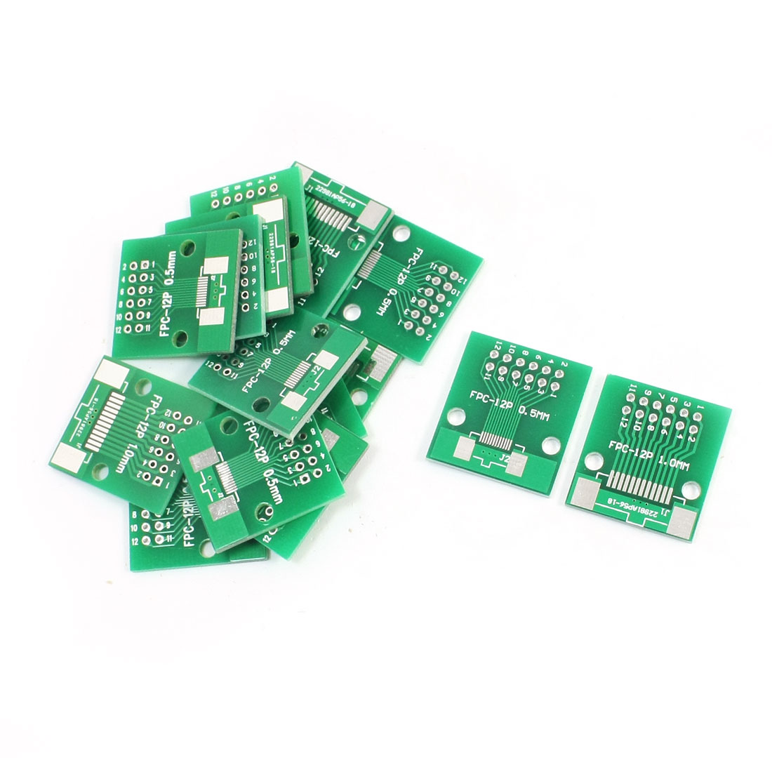 15Pcs FPC/FFC DIP12 to 0.5mm/1.0mm 2 Sides SMD IC PCB Adapter Plates