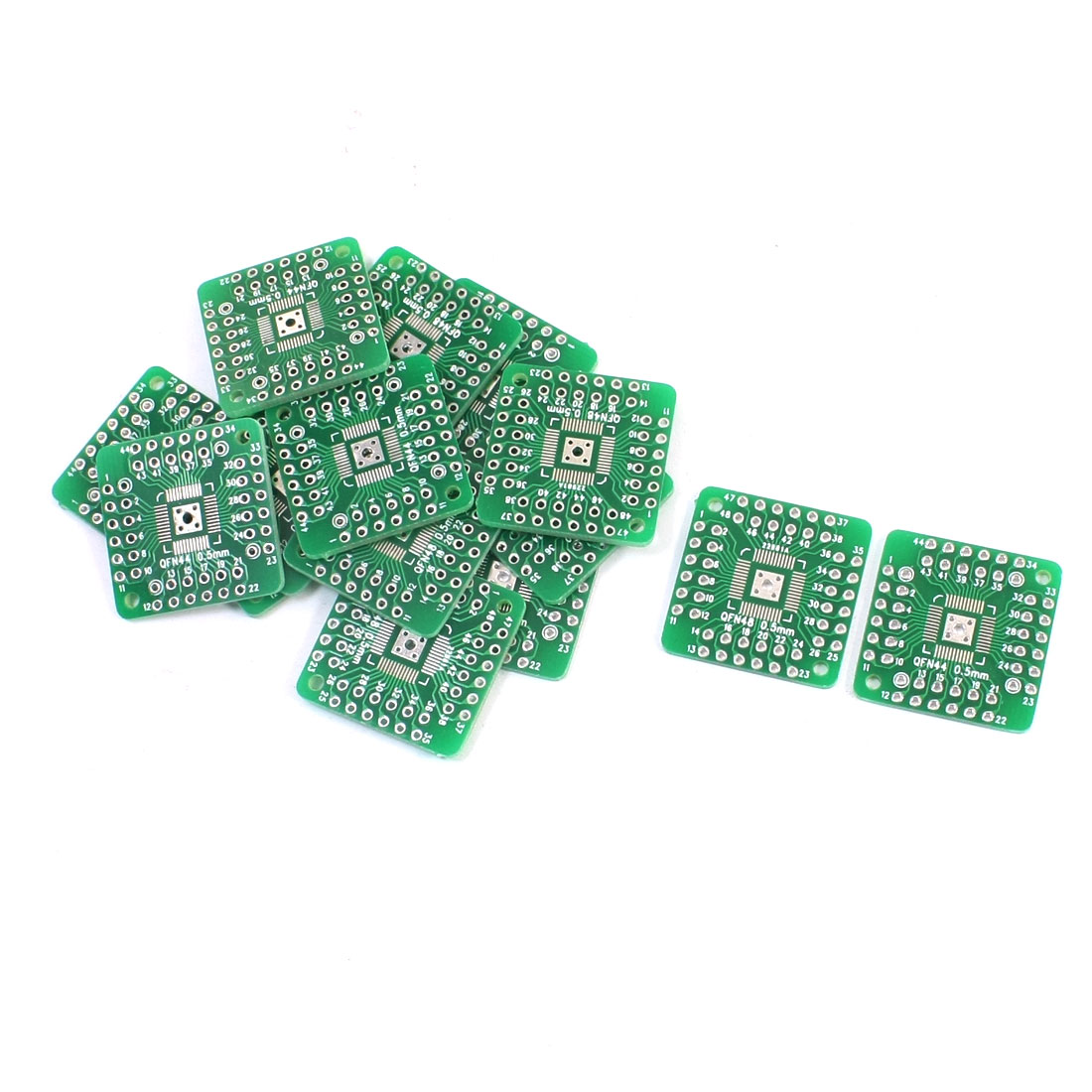 15Pcs Dual Sides SMD SMT QFN48 QFN44 0.5mm to DIP 48/44 2.54mm IC PCB Adapter Plate Convertor Board
