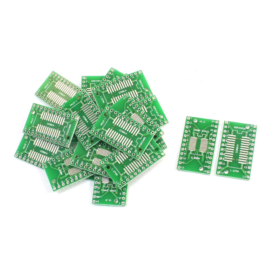 20Pcs 0.65mm 1.27mm SSOP24 TSSOP24 to 2.54mm DIP24 SMD IC PCB Adapter Socket