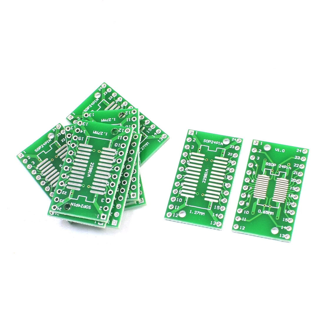 10Pcs SOP24 SSOP24 TSSOP24 0.65mm 1.27mm to DIP24 2.54mm PCB Adapter Converter