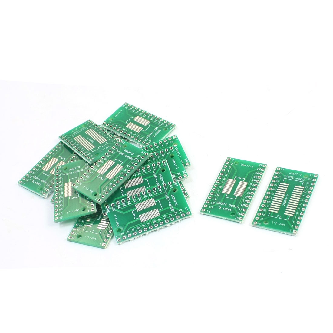 15 Pcs SMD SOP28 SSOP28 TSSOP28 0.65mm 1.27mm to DIP24 24Pin 2.54mm IC PCB Plate Adapter Converter Board