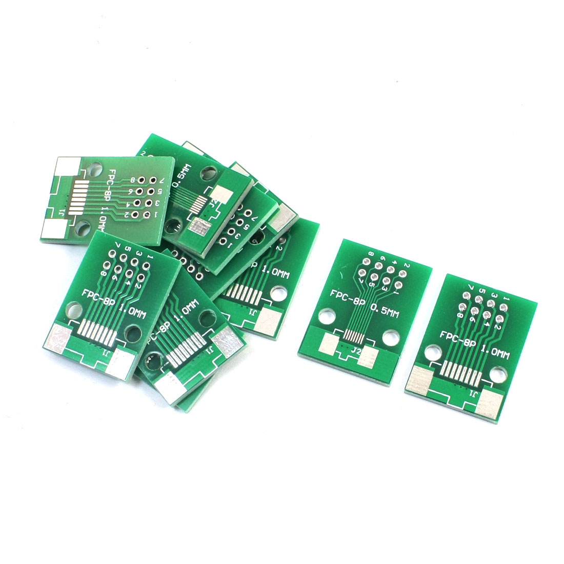 10Pcs Dual Side FPC-8P FFC-8P 0.5mm 1mm to DIP8 2.54mm Pitch PCB Board Plate Adapter Socket Converter