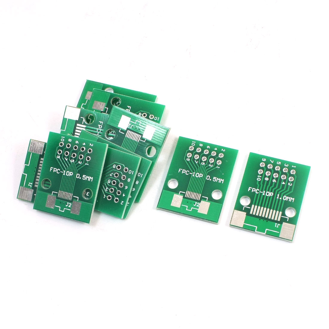 10Pcs SMD SMT FPC-10P 0.5mm 1mm to DIP10 2.54mm Pitch 2 Sides PCB Adapter Plate Converter Board