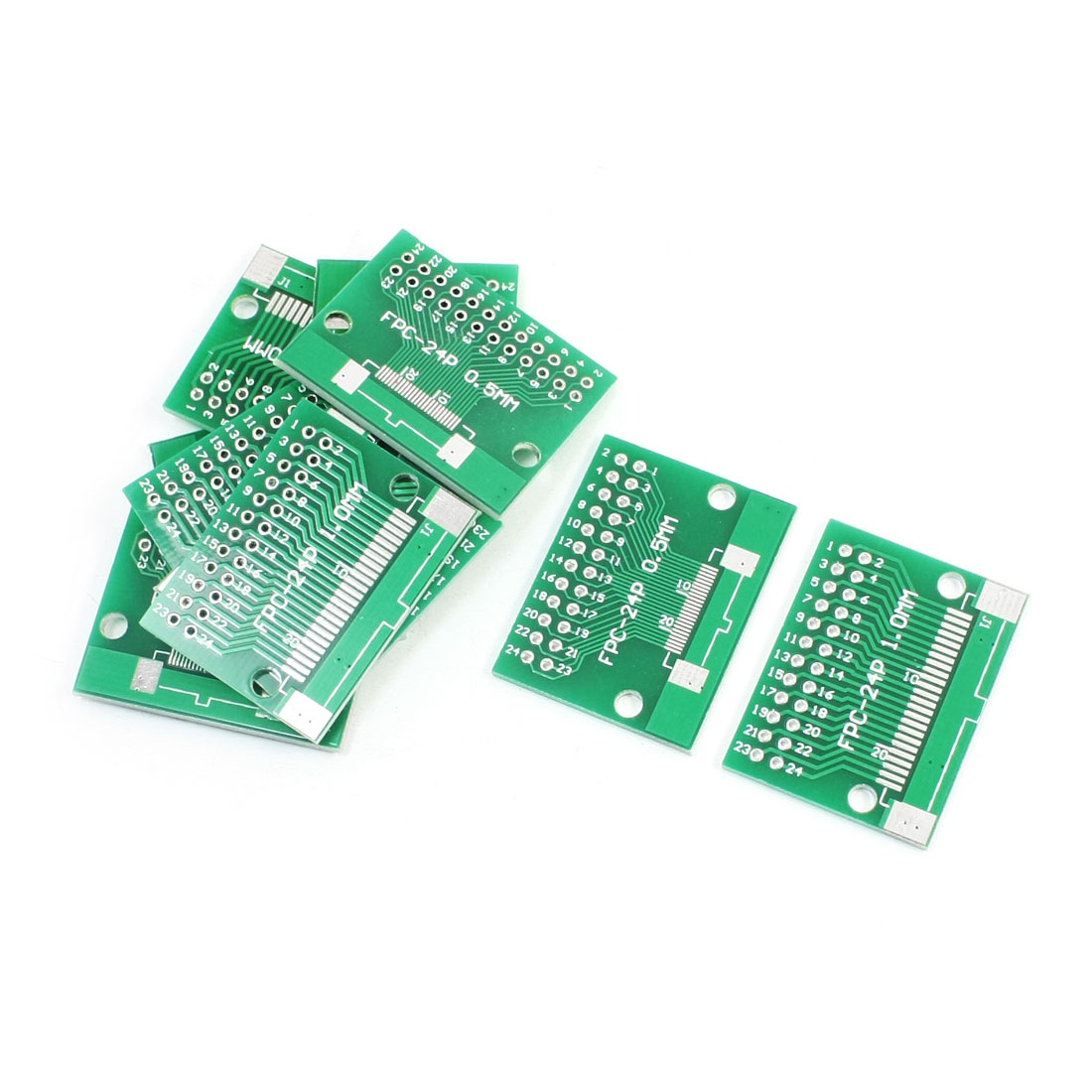 10 PCS FPC-24P FFC-24P 0.5mm 1mm to DIP24 2.54mm Pitch Double Sides IC PCB Board Adapter Plate Converter Socket