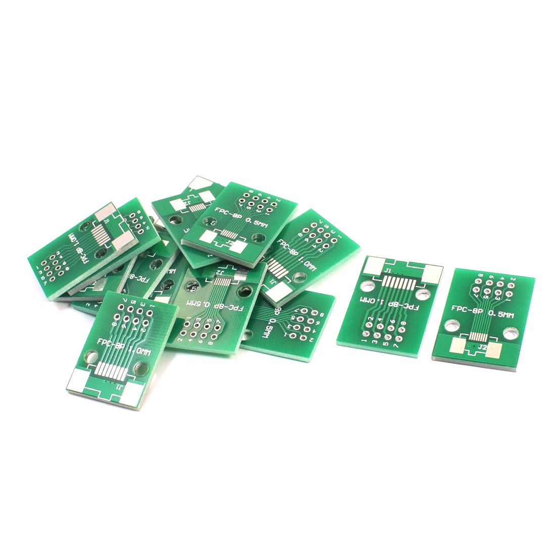 26mm x 19mm FPC-8P SOP8 1mm 0.5mm to DIP8 2.54mm Pitch Interposer PCB Board Adapter Plate Converter