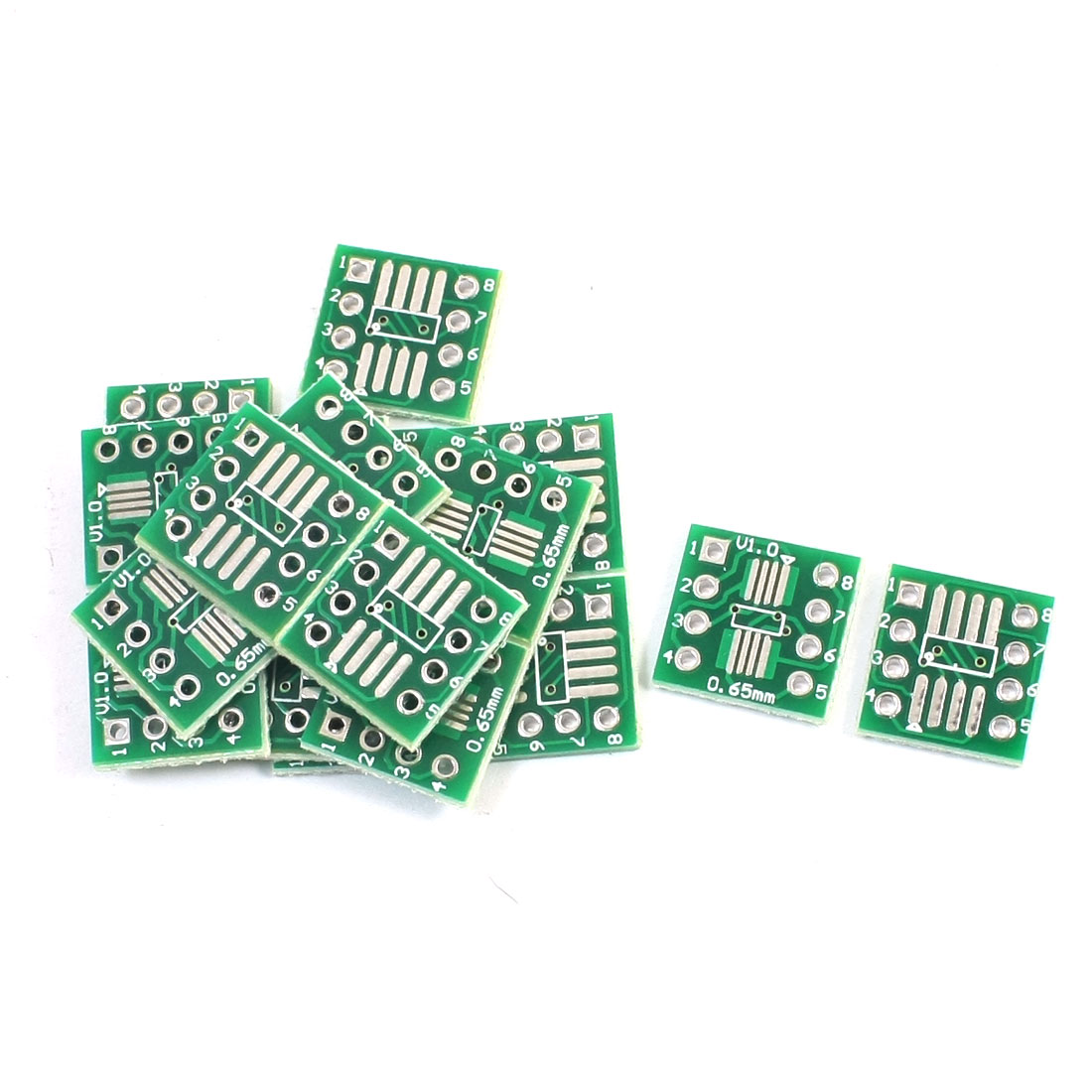 20 Pcs Dual Sides SMD SOP8 0.65mm to DIP8 2.54mm Pitch IC PCB Adapter Plate Convertor Board
