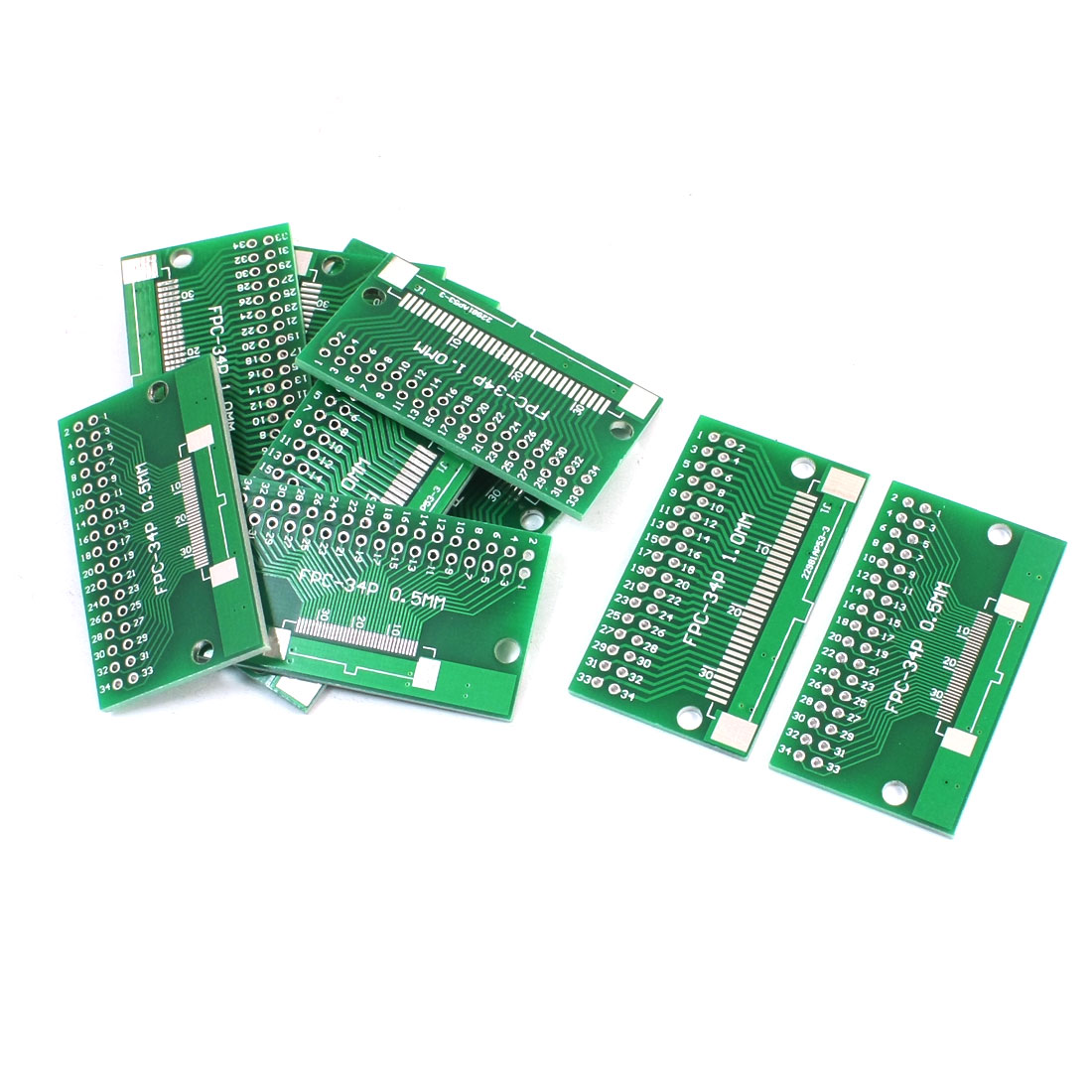 10 Pcs FPC-34P FFC-34P 0.5mm 1mm to DIP34 2.54mm Dual Sides IC PCB Adapter Plate Converter Board Socket