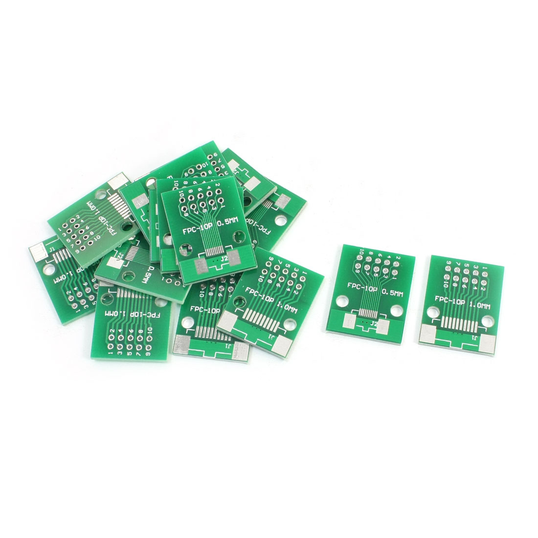 15 PCS SMD FPC-10P 0.5mm 1mm to DIP10 2.54mm Pitch Double Sides Adapter PCB Plate Converter Board