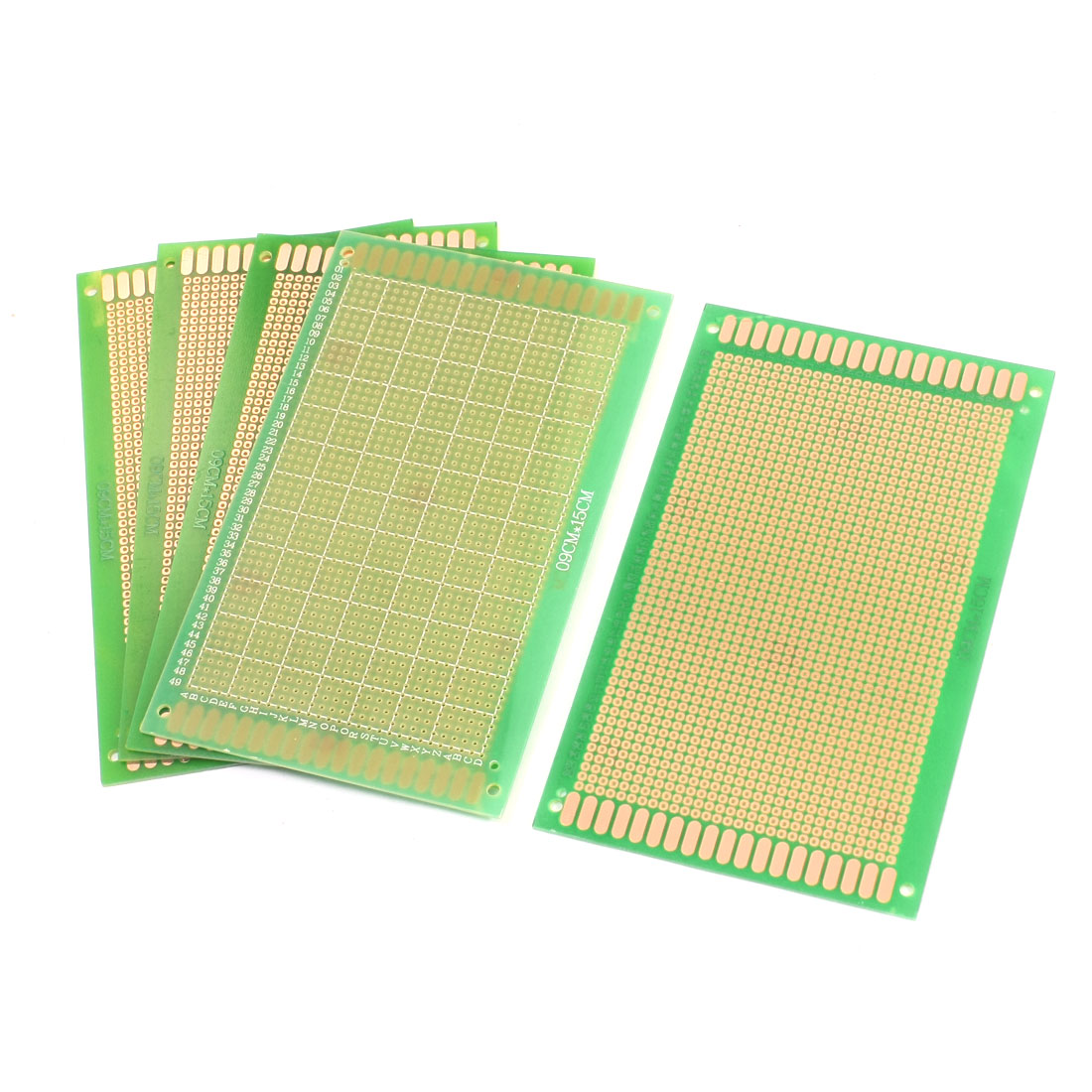 5Pcs Universal Single Side Prototype Matrix Copper Plated Carbon Fiber PCB Board 15cm x 9cm