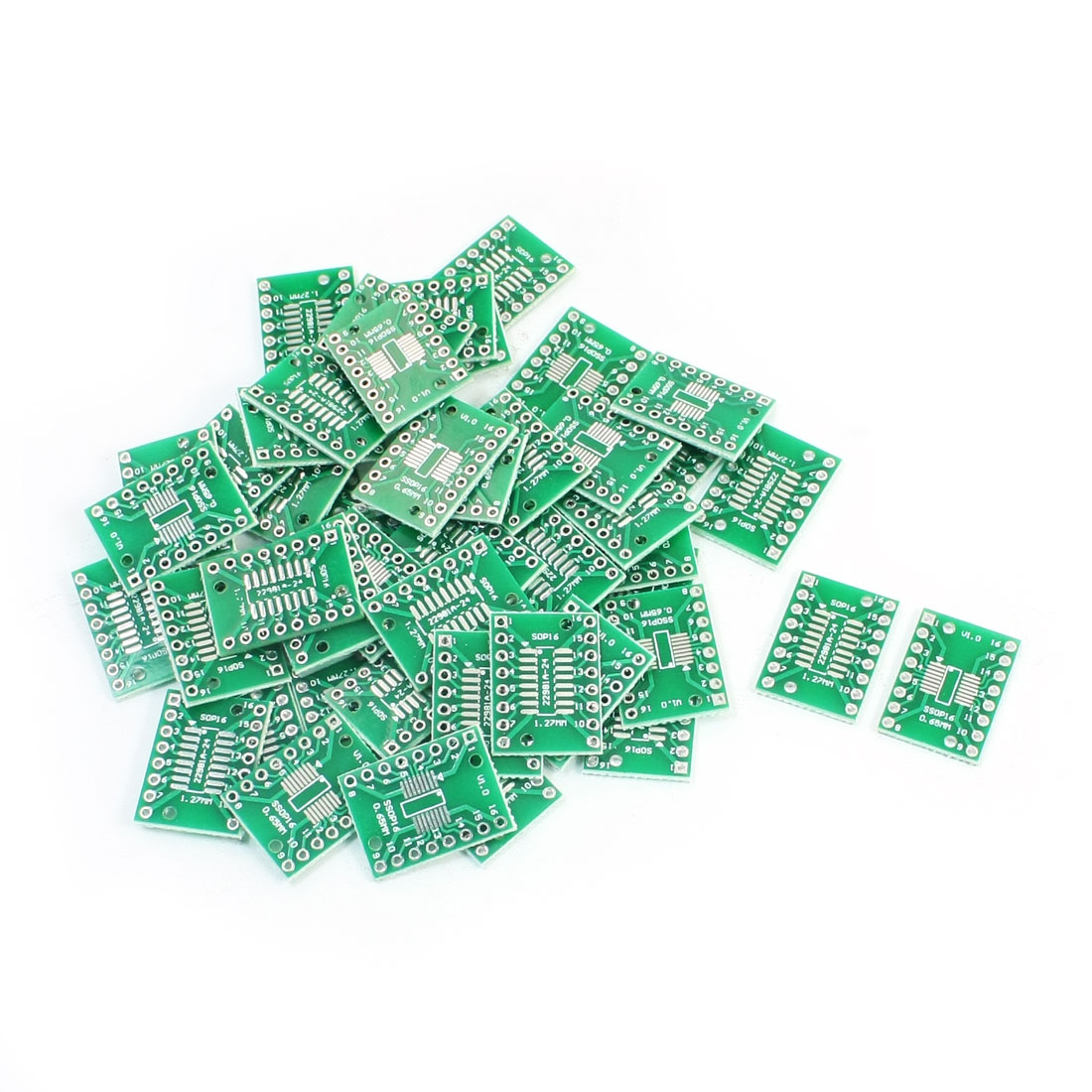 50PCS SMD SOP16 SSOP16 TSSOP16 to DIP16 0.65/1.27mm PCB Adapter Plate