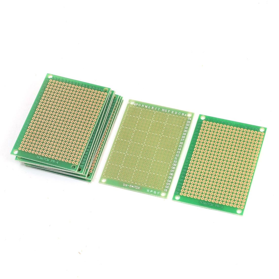 10Pcs Electronic DIY Universal Single Side Prototype Matrix Copper Plated Carbon Fiber PCB Board 7cm x 5cm
