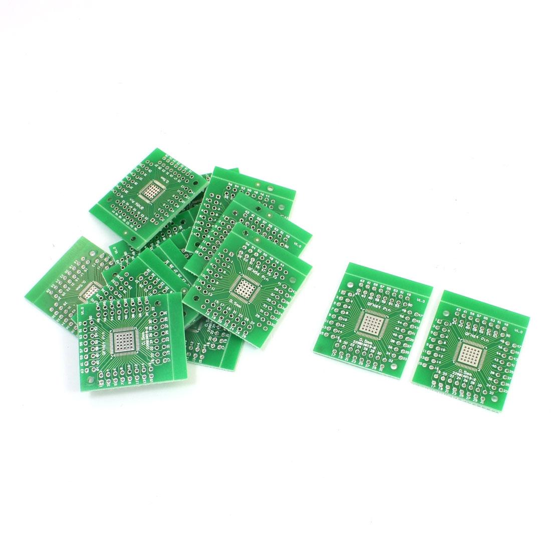 15Pcs QFN64/56 to DIP64 DIP56 0.5mm IC PCB Adapter Socket Board Plates