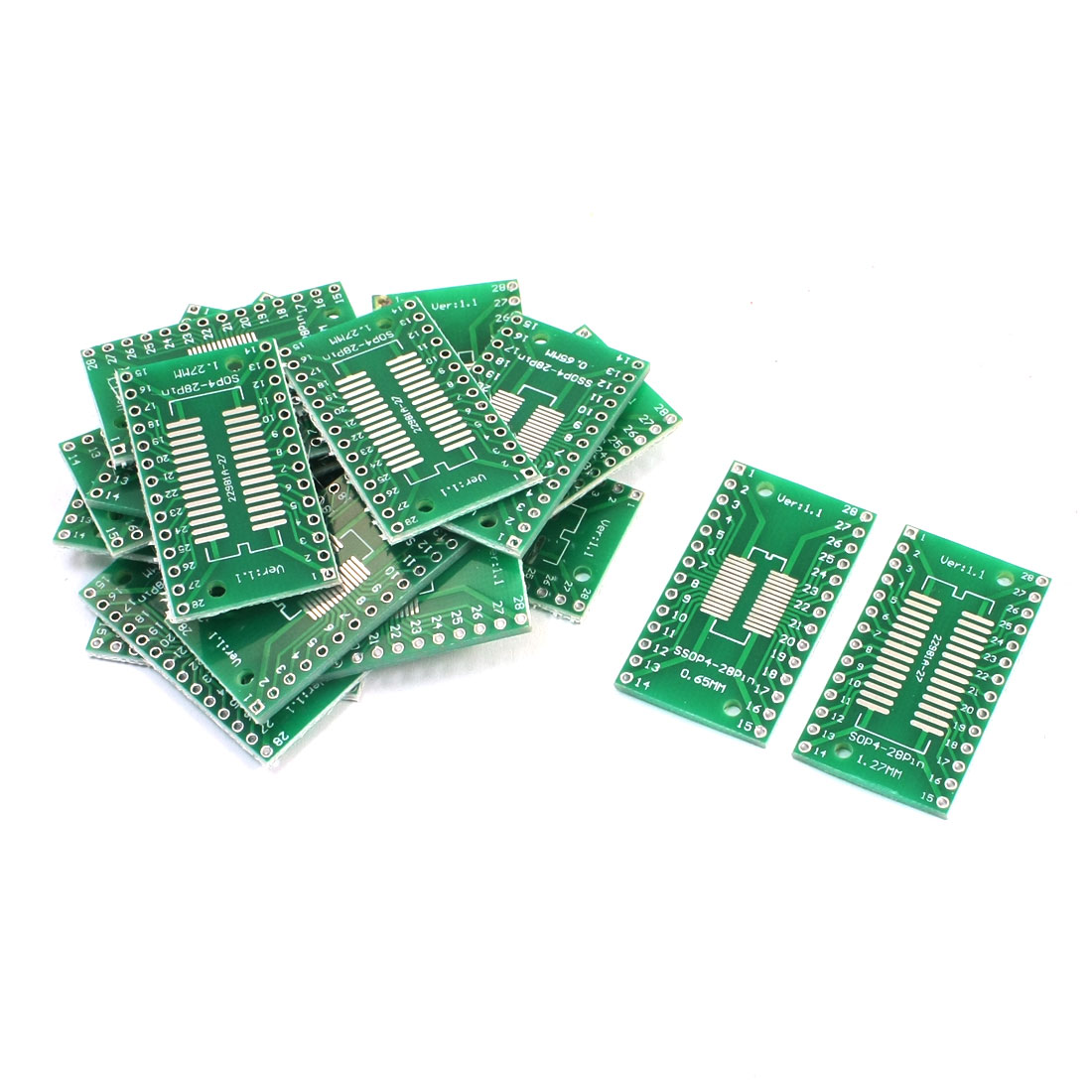 20PCS SOP28 SSOP28 TSSOP28 to DIP28 Two Sides Adapter PCB IC Converter Plate